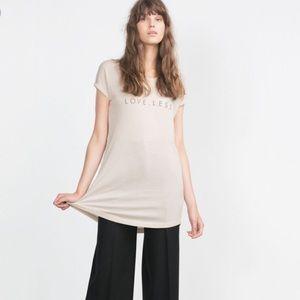 ZARA Love.Less Short Sleeve Women's T-Shirt